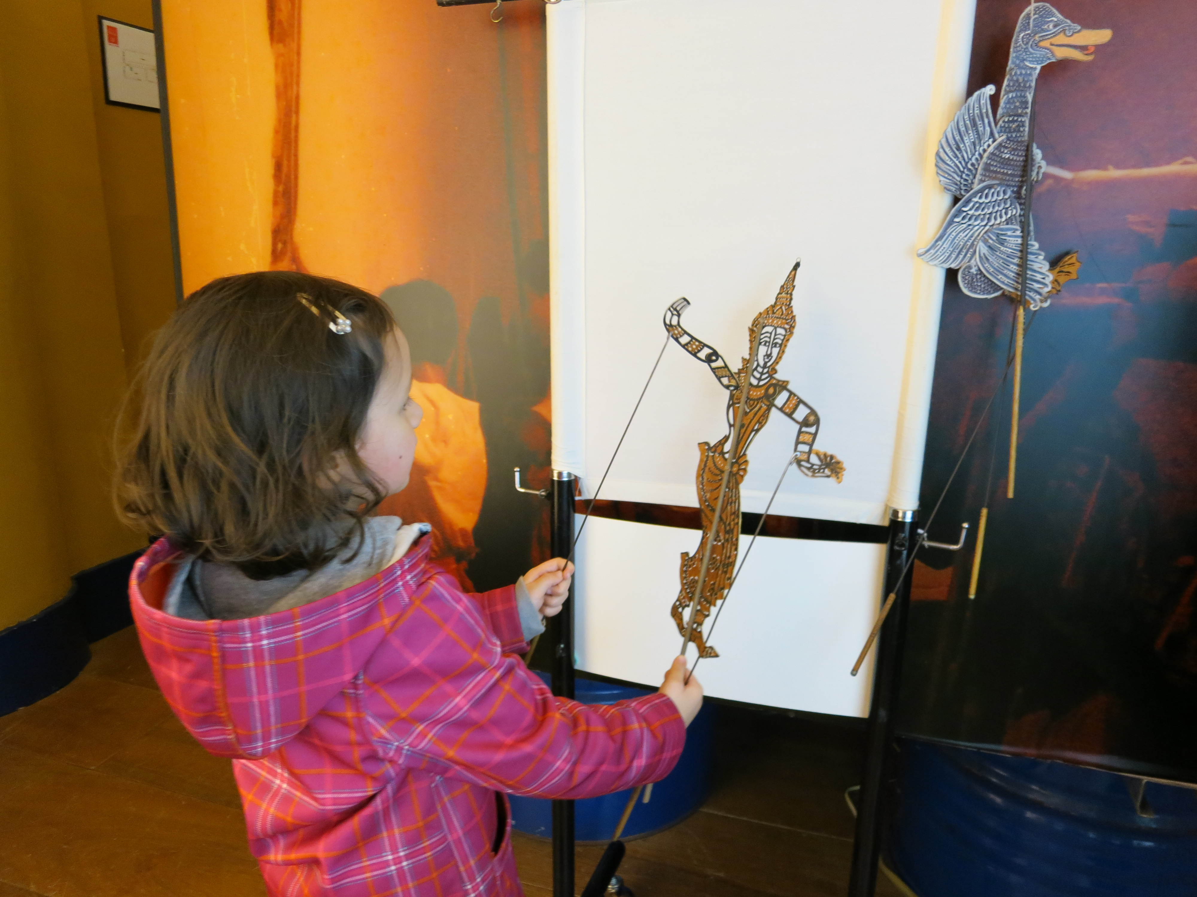 Museum Bento shadow puppets