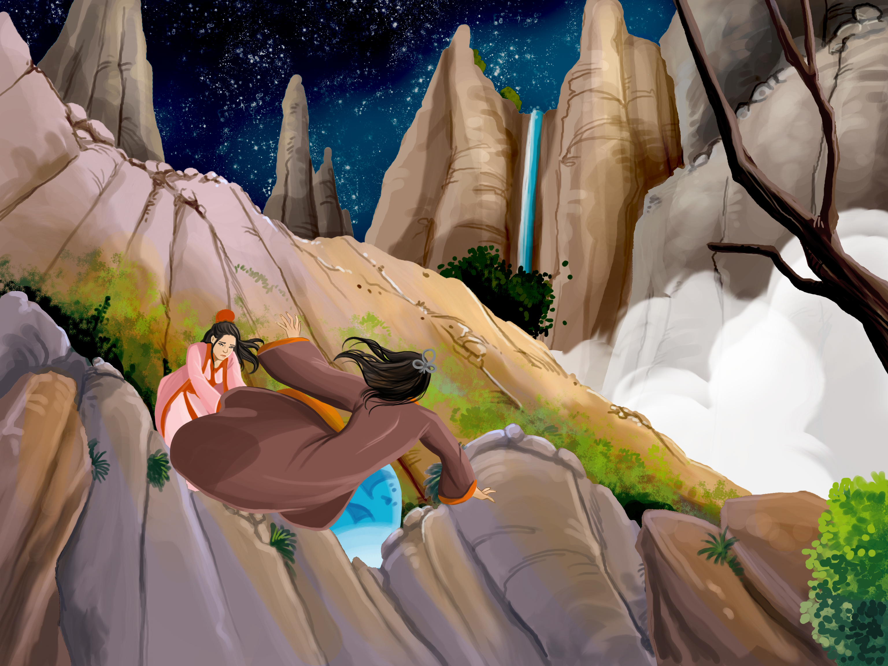 Bewitched_wife_Falling Down Mountain